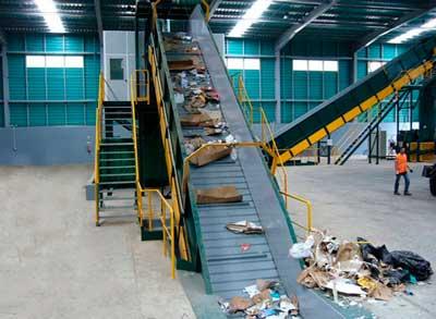 کانوایر تفکیک زباله