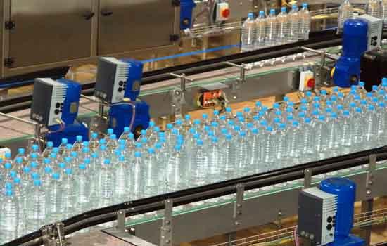 کانوایر حمل و انتقال آب معدنی