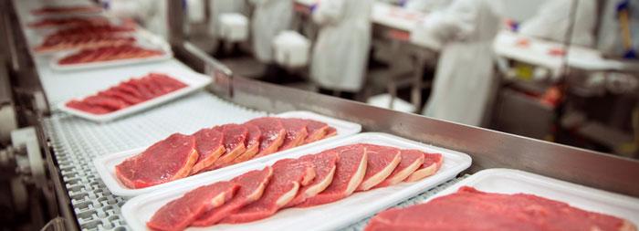 تسمه نقاله برای صنعت گوشت ومرغ