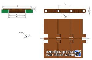 مشخصات زنجیر تخت پلاستیک مدل 820