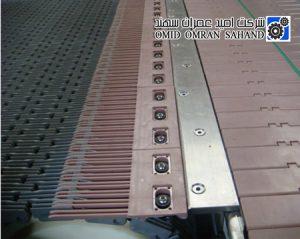 زنجیر تخت پلیمری برای حمل قوطی های فلزی