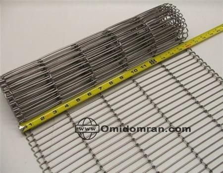 تسمه توری اینروبر (Enrober Wire Conveyor Belt)