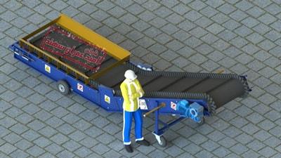 نوار نقاله حمل و نقل غلات از واگن های قطار