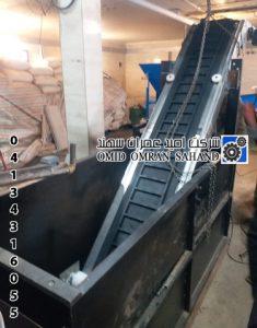 نوار نقاله حمل محصولات سربی ساخته شده از فولاد استیل 304