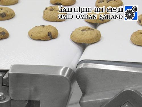 نوار نقاله صنایع غذایی برای حمل بیسکویت
