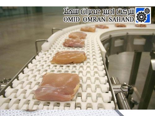 نوار نقاله برای صنایع غذایی و گوشت مرغ