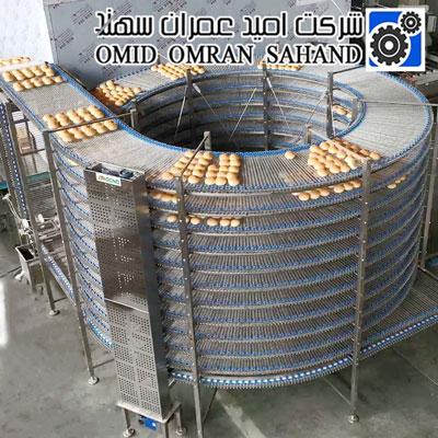 سیستم های کانوایر اسپیرال در پردازش مواد غذایی