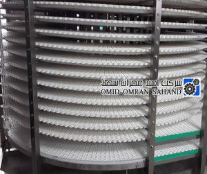 Spiral conveyor belt