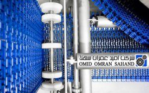 ماشین آلاتی با سازه های فولادی ضد زنگ - نوار نقاله اسپیرال