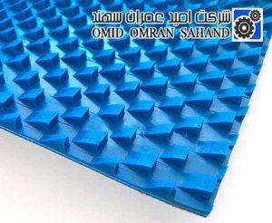 تسمه PVC آبی دندان اره ای